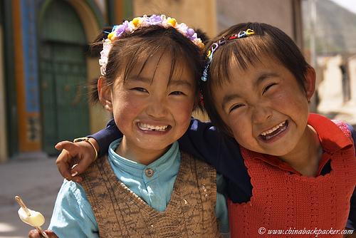 Picture: Chinese Hui Muslim Kids from Gansu